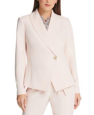 Asymmetrical Shawl-Collar Blazer