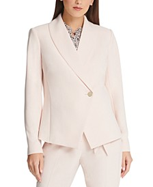 Asymmetrical Shawl-Collar Blazer