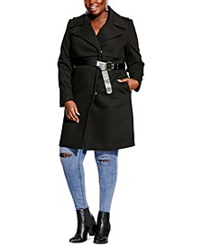Plus Size Magnum Belted Trench Coat