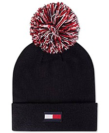 3-Color-Pom Ski Hat