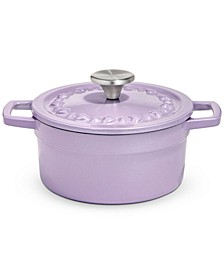 CLOSEOUT! 2-Qt. Heart Embossed Enameled Cast Iron Dutch Oven, Created for Macy's