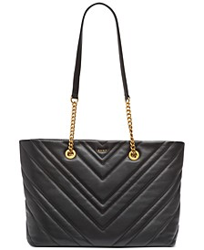 Vivian Leather Medium Tote