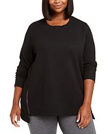 Plus Size Side-Zipper Sweatshirt, Created For Macy's