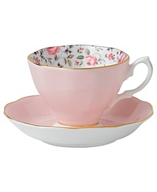 Rose Confetti Cup and Saucer