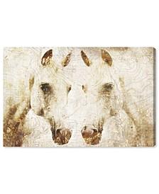 "Double Stallion Canvas Art - 16"" x 24"" x 1.5"""