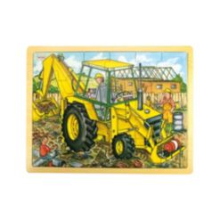Bigjigs Toys 24 Piece Tray Puzzle, Digger