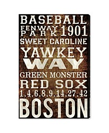 Boston Red Sox Canvas Art Collection