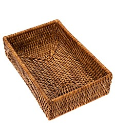 Rattan Guest Towel and Napkin Holder