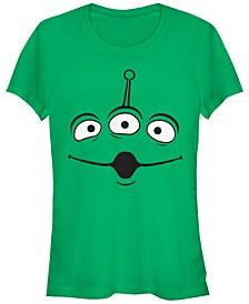 Disney Pixar Women's Toy Story Aliens Face Short Sleeve Tee Shirt