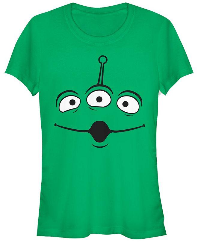 Fifth Sun Disney Pixar Women's Toy Story Aliens Face Short Sleeve Tee Shirt