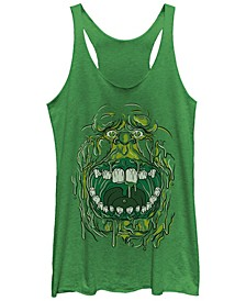 Ghostbusters Women's Slimmer Face Halloween Costume Tri-Blend Tank Top