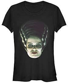 Universal Monsters Women's Bride of Frankenstein Big Face Short Sleeve Tee Shirt