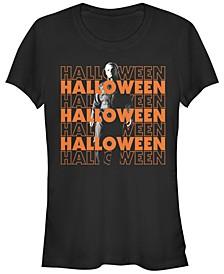 Halloween 2 Women's Michael Myers Title Stack Short Sleeve Tee Shirt