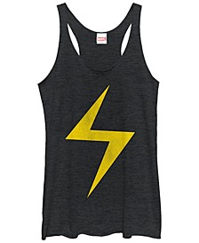 Marvel Women's Ms. Marvel Women's Lightning Bolt Icon Tri-Blend Tank Top