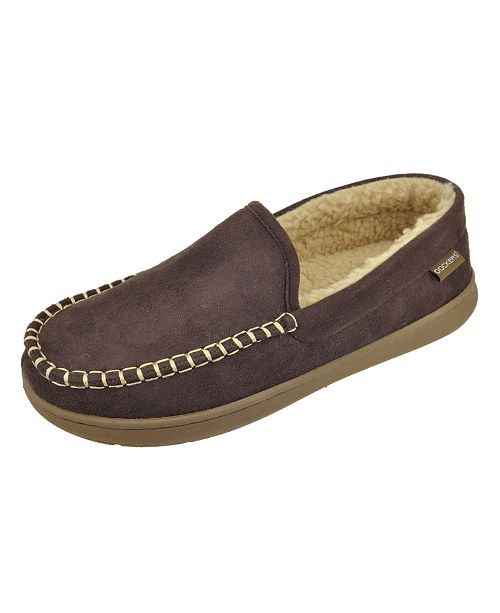 Dockers Men's Moccasin Slippers with Memory Foam