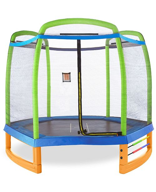 Pure Fun Jump and Play 7' Trampoline Set
