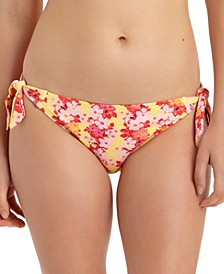 Juniors' Floral-Print Side-Tie Hipster Bikini Bottoms, Created For Macy's