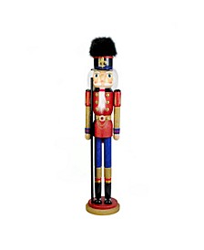 60-Inch Red and Blue Soldier Nutcracker