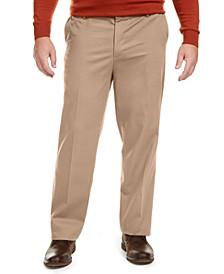 Men's Big & Tall Signature Lux Cotton Classic Fit Creased Stretch Khaki Pants