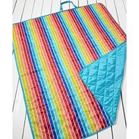 Deals on Martha Stewart Collection Rainbow Stripe Beach Blanket