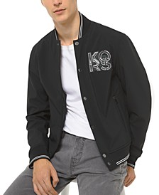 Men's Soft Shell Logo Baseball Jacket
