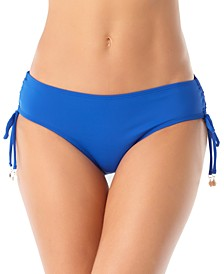 Ruched-Side Bikini Bottoms