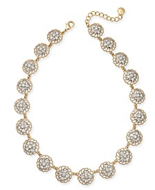 """Two-Tone Crystal Palazzo All-Around Collar Necklace, 17"""" + 2"""" extender, Created For Macy's"""