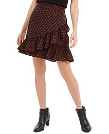 Printed Cross-Ruffled Skirt, Created for Macy's