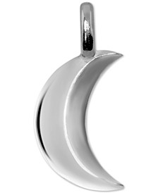 Mini Moon Charm Pendant in Sterling Silver