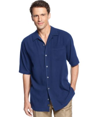 Image of Tommy Bahama Men's Short-Sleeve Catalina Twill Shirt, Only at Macy's
