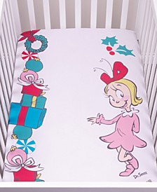 Cindy Lou Who Flannel Photo Op Crib Sheet