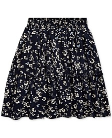 Big Girls Floral Tiered Cotton Skirt