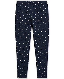 Big Girls Star-Print Stretch Cotton Jersey Legging