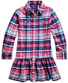 Toddler Girls Plaid Cotton Twill Dress