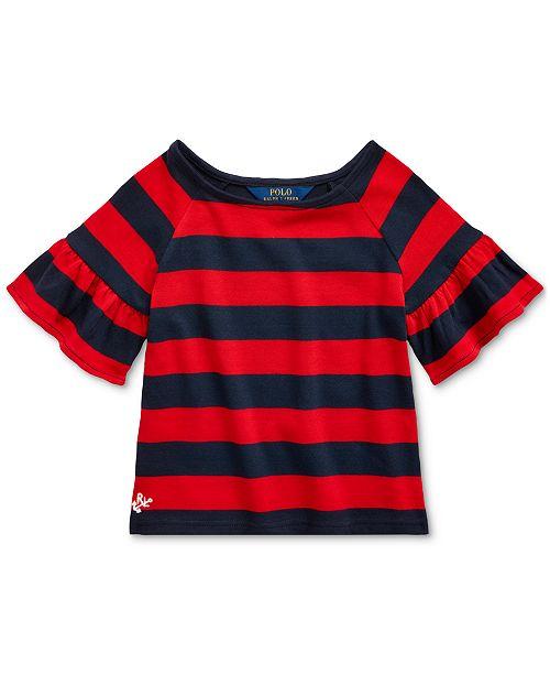 Polo Ralph Lauren Little Girls Ruffled Cotton Jersey Top