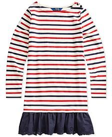 Big Girls Striped Cotton Jersey Dress