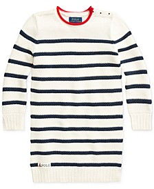 Little Girls Striped Cotton Sweater Dress