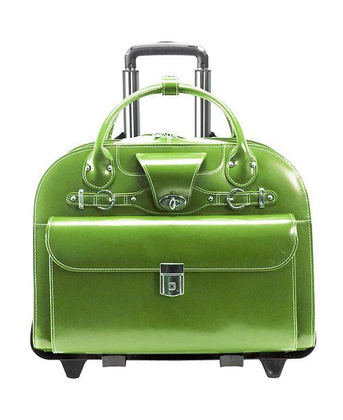 """McKlein Roseville 15"""" Fly-Through Checkpoint-Friendly Ladies Laptop Briefcase"""