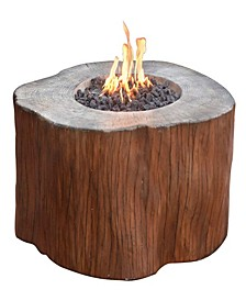 """42"""" Manchester Outdoor Redwood Fire Pit Table Natural Gas"""