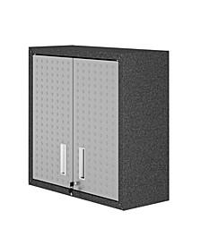 "Fortress 30"" Floating Textured Metal Garage Cabinet with Adjustable Shelves"