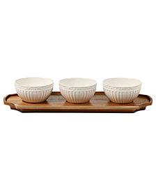 Mikasa Set of 3 Italian Countryside Bowls with Tray