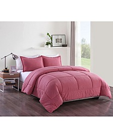 Washed Cotton Comforter Mini Set, Full/Queen