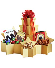 Gold Star Gourmet Gift Tower