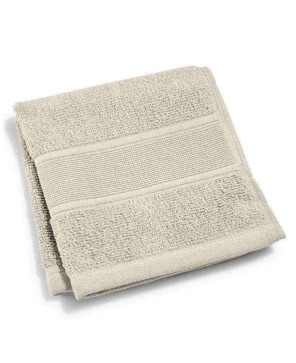 "Lauren Ralph Lauren Sanders  Antimicrobial Cotton Solid 13"" x 13"" Wash Towel"