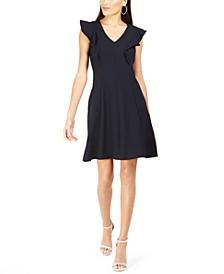Petite Ruffled A-Line Dress