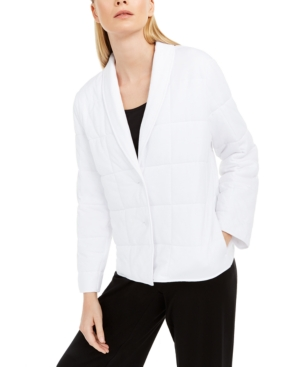 Eileen Fisher Jackets SHAWL-COLLAR QUILTED JACKET
