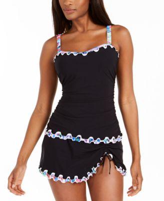 Tricolore Ruffled Swim Skirt, Created For Macy's