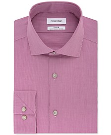 Calvin Klein Men's STEEL Slim-Fit Non-Iron Stretch Performance Dress Shirt