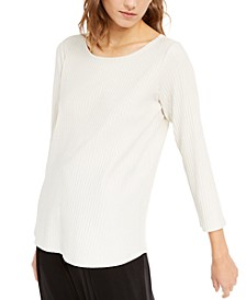 Long-Sleeve Scoop-Neck Top