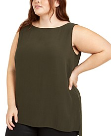 Plus Size Silk Top